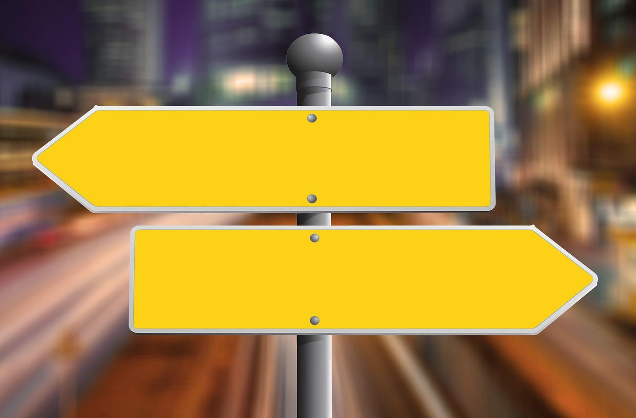 Weg met links